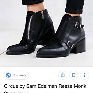 Circus by Sam Edelman Reese Monk strap Booties